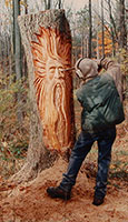Nate Carving Tree